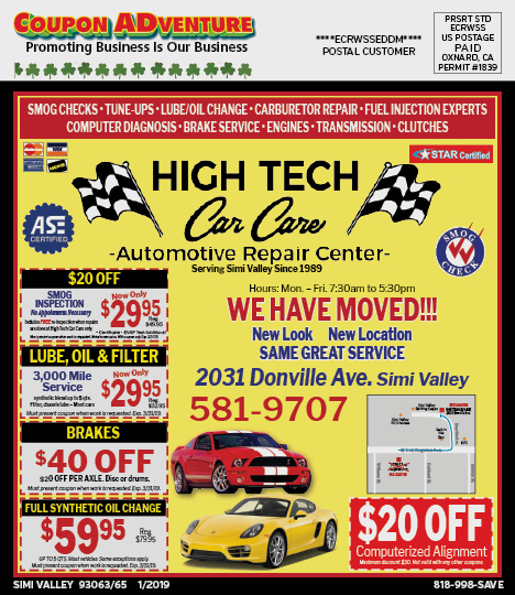 Simi Valley 93063 65 January 2019 Coupons Coupon Adventures
